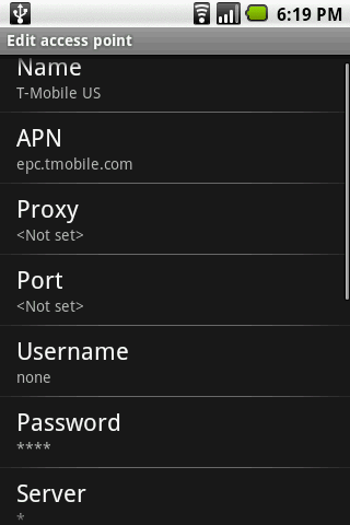 how to change acess point name in android